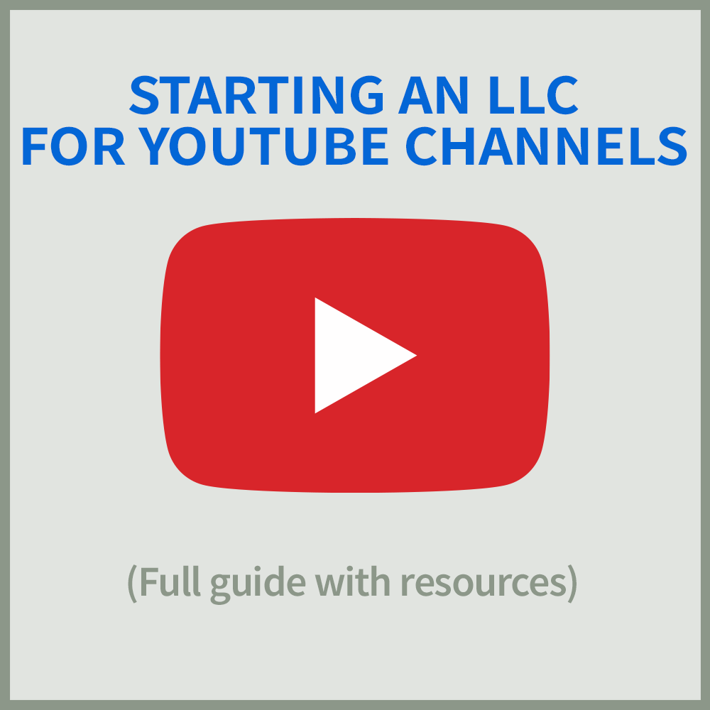 LLC for YouTube Channels